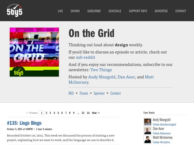 On the grid podcast