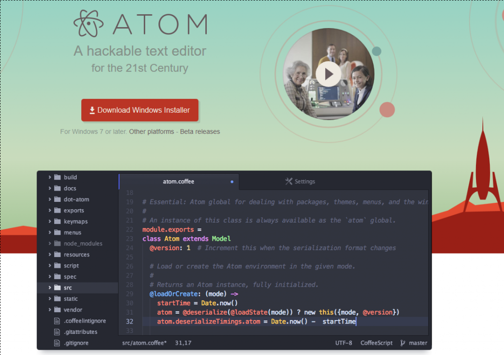 atom editor react native ide