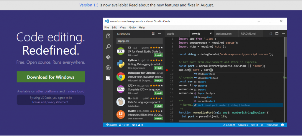 visual studio react native ide